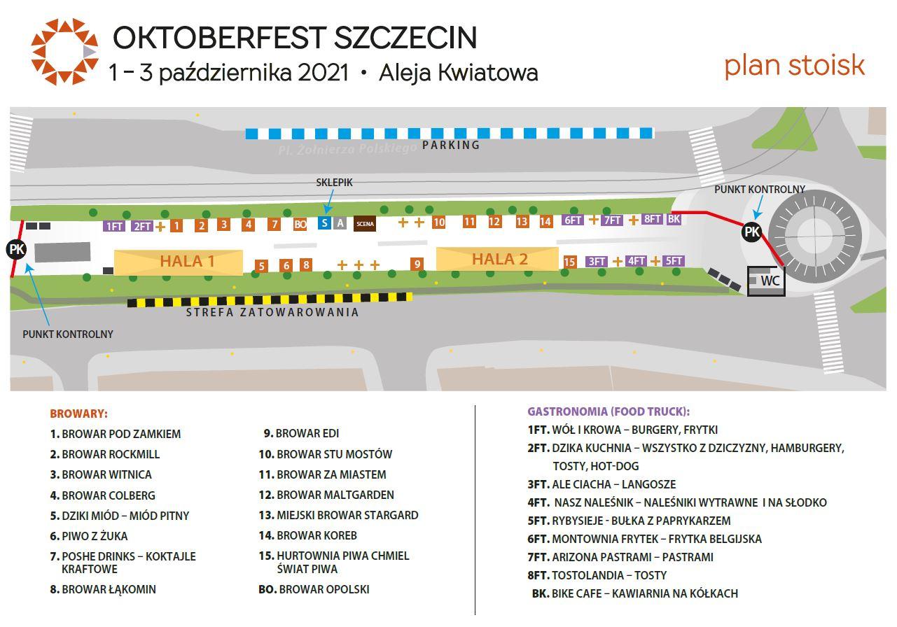 Plan stoisk Oktoberfest Szczecin 2021
